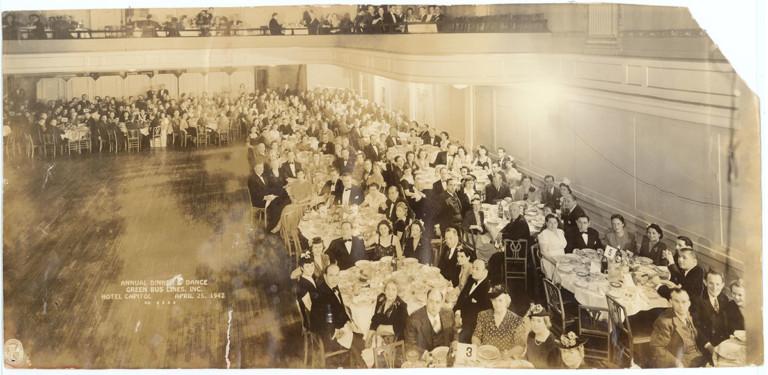 1940s Stockholder Green Bus Lines dinner