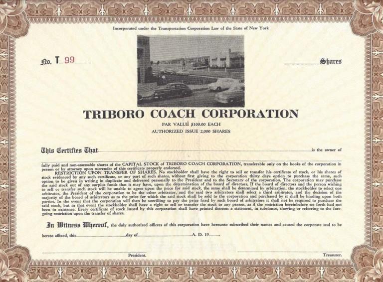 Triboro Coach Corporation share