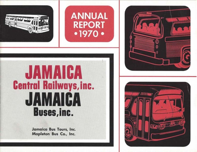 Jamaica Buses annual report cover from 1970